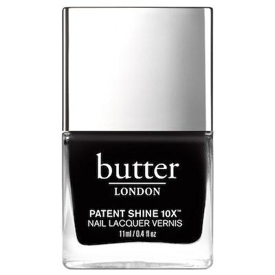 Patent Shine 10X Nail Lacquer in Union Jack Black