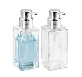 mDesign Modern Square Foaming Hand Soap Dispenser (2-Pack)