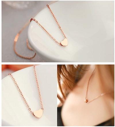 YUMILY Womens Charm Mini Heart Pendant Necklace