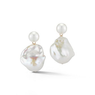 Duality Pearl Drop Earrings
