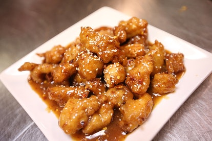 You can easily throw together this Chinese sesame chicken recipe.