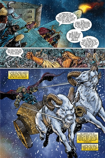 Thor goats chariot Thor Love and Thunder