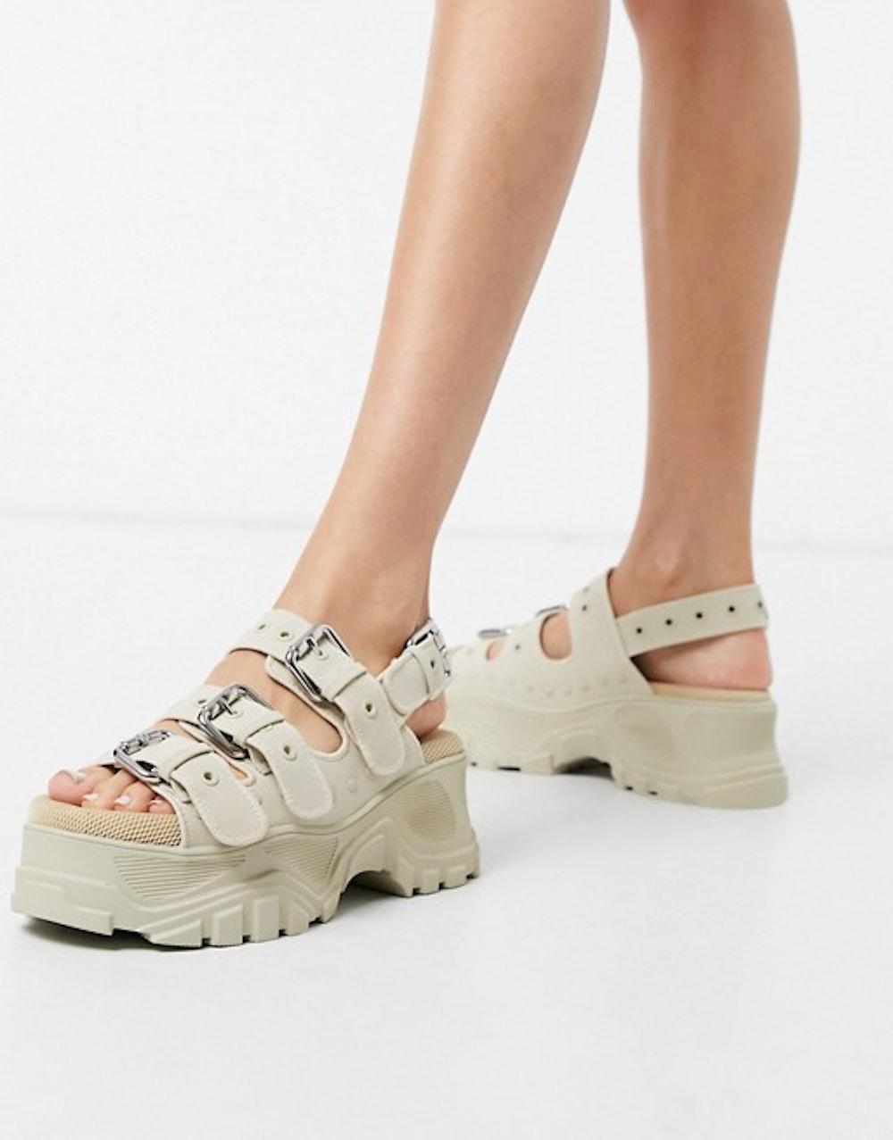 Chunky Buckle Sandal