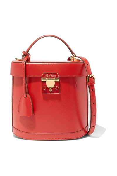 Mark Cross Benchley Pebbled-Leather Bucket Bag