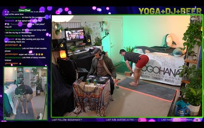 Stream yoga and strength workouts on YogOhana's Twitch channel.