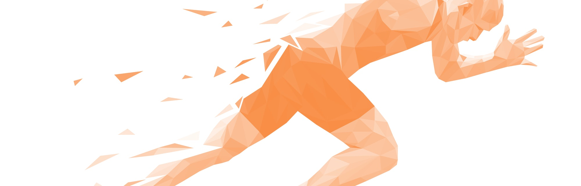 silhouette running man sprinter explosive start