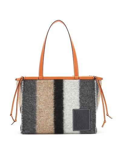 Loewe Cushion Stripe Felt Tote Bag