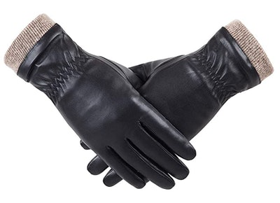 REDESS Wool Lined Leather Gloves