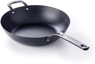 BK 12-Inch Black Carbon Steel Wok