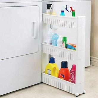 Modern Home Narrow Sliding Storage Organizer Rack