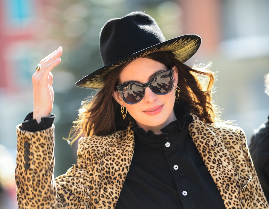Actress Anne Hathaway walks on Main Street on January 27, 2020 in Park City, Utah.