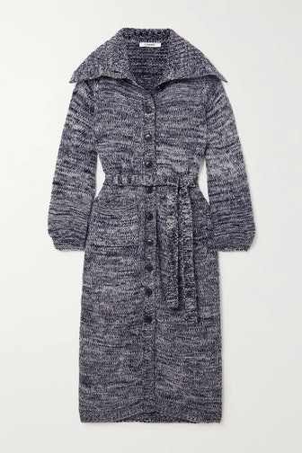 Belted Wool-blend Cardigan