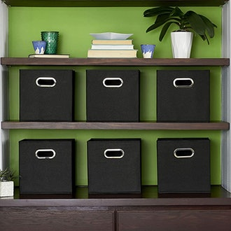 Household Essentials Foldable Fabric Storage Bins