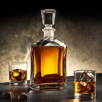 Paksh Capitol Glass Decanter with Airtight Geometric Stopper