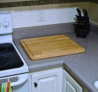 Camco Hardwood Cutting Board and Stove Topper