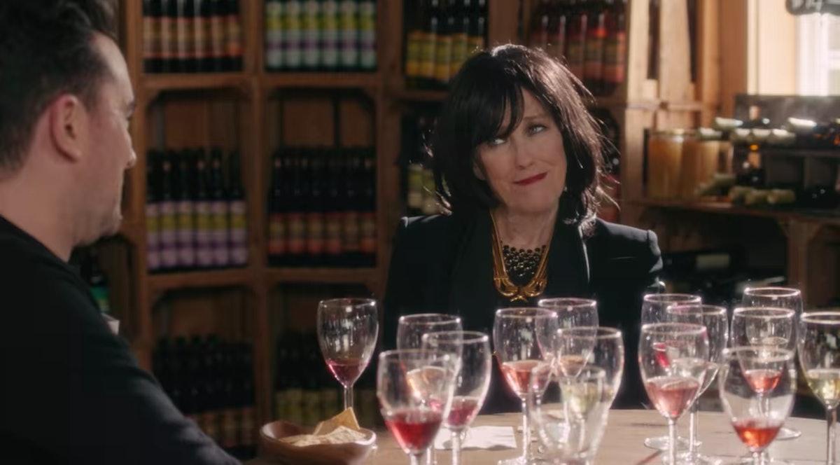 David and Moira Rose taste wine in 'Schitt's Creek.'