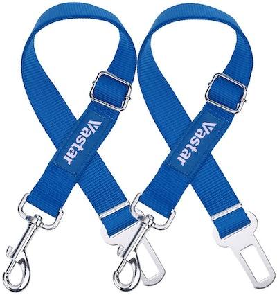 Vastar Adjustable Dog Seat Belt Safety Leash (2-Pack)