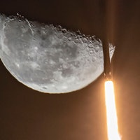 SpaceX Starlink: Elon Musk shares photo of Falcon 9 soaring past Moon