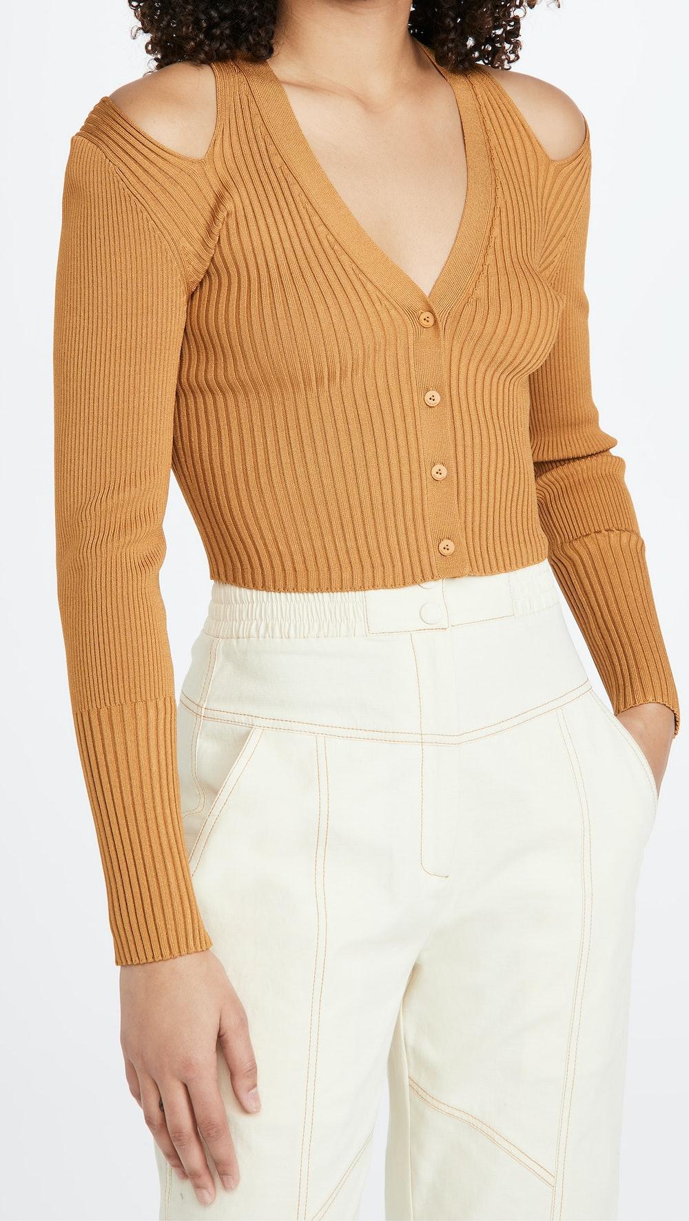 Jolie Cut Out Shoulder Cardigan