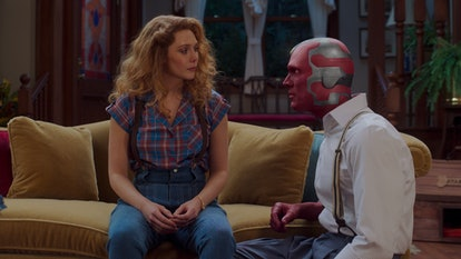Wanda and Vision in 'WandaVision' Season 1, Episode 5 via the Disney+ press site