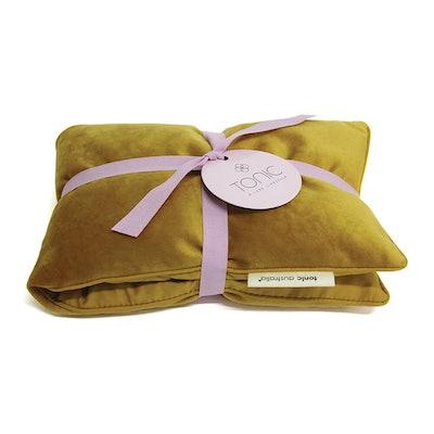 Tonic Velvet Heat Pillow In Ochre