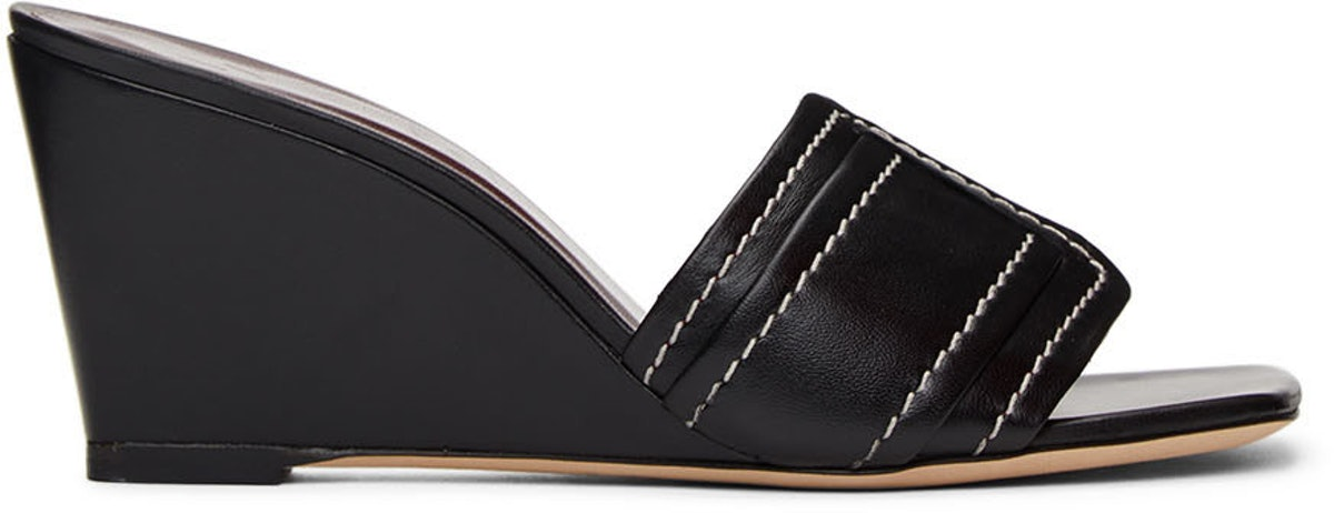 Black Sylvie Wedge Sandals