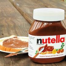 Nutella jar and toast