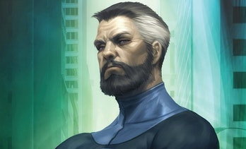 Reed Richards close-up in the Fantastic Four comics
