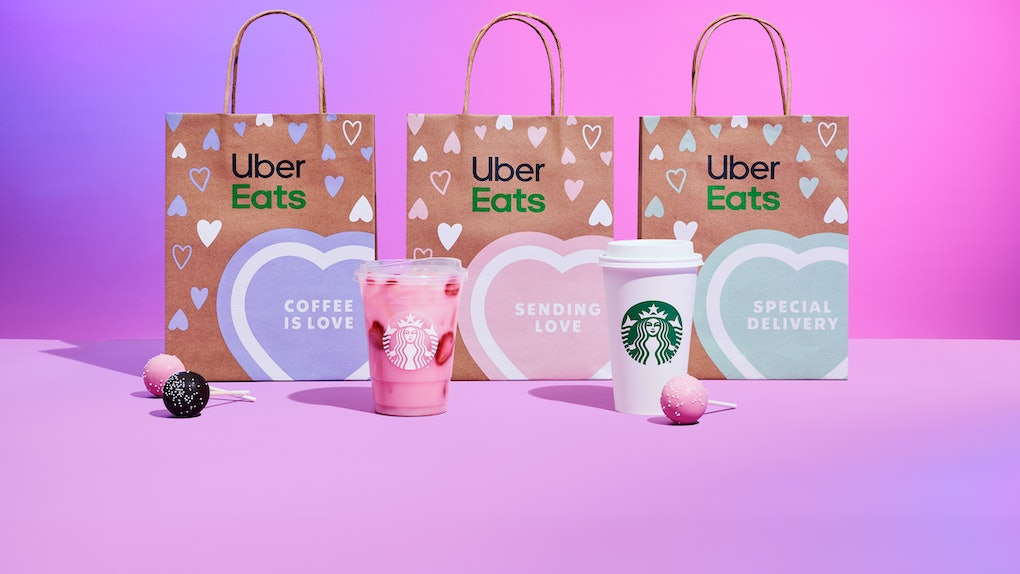 Starbucks' 2021 Valentine's Day deals on Uber Eats include free delivery and a discount.