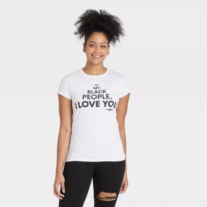 Mess In A Bottle x Target Black History Month Women's 'To My Black People I Love You' Short Sleeve T-Shirt