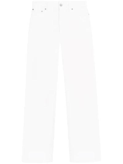 Denim Baggy Pants With Slits