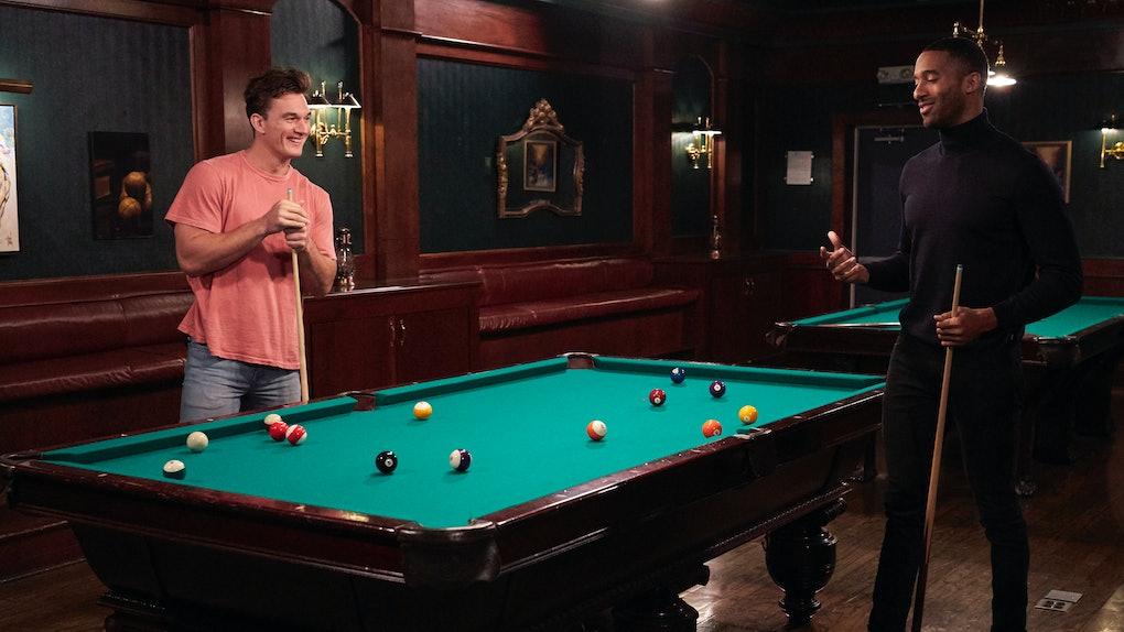 Tyler Cameron and Matt James in The Bachelor.