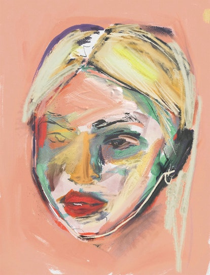 A colorful, water color of Hayley Kiyoko by artist Liz Hirsch.