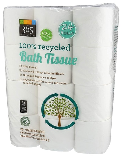 365 Everyday Value 100% Recycled Bathroom Tissue (2-Ply, 24 Rolls)
