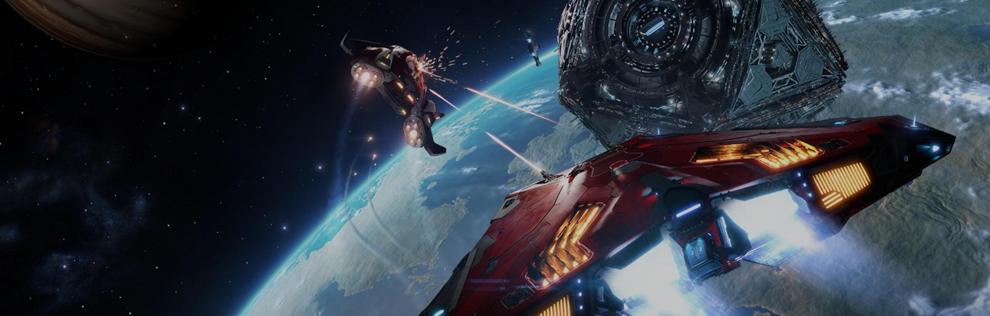 A screenshot of gameplay in Elite Dangerous