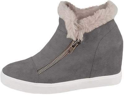 Laicigo Women's Hidden Wedge Platform Sneakers