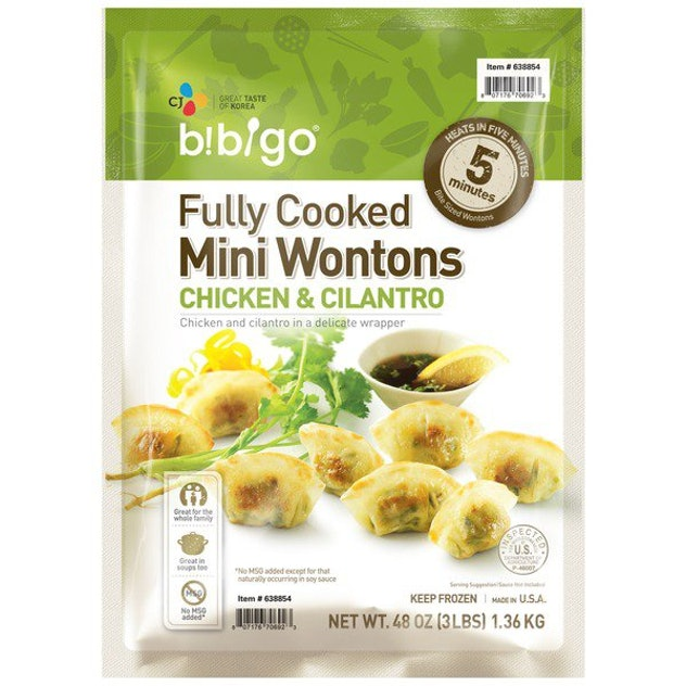 fully cooked mini wontons