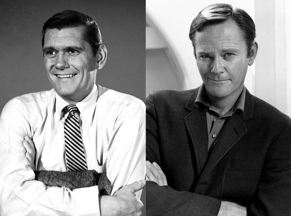 Dick York (left) and Dick Sargent (right) both played Darrin on Bewitched.