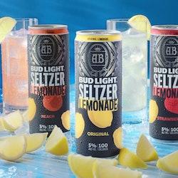 Bud Light Seltzer Lemonade cans