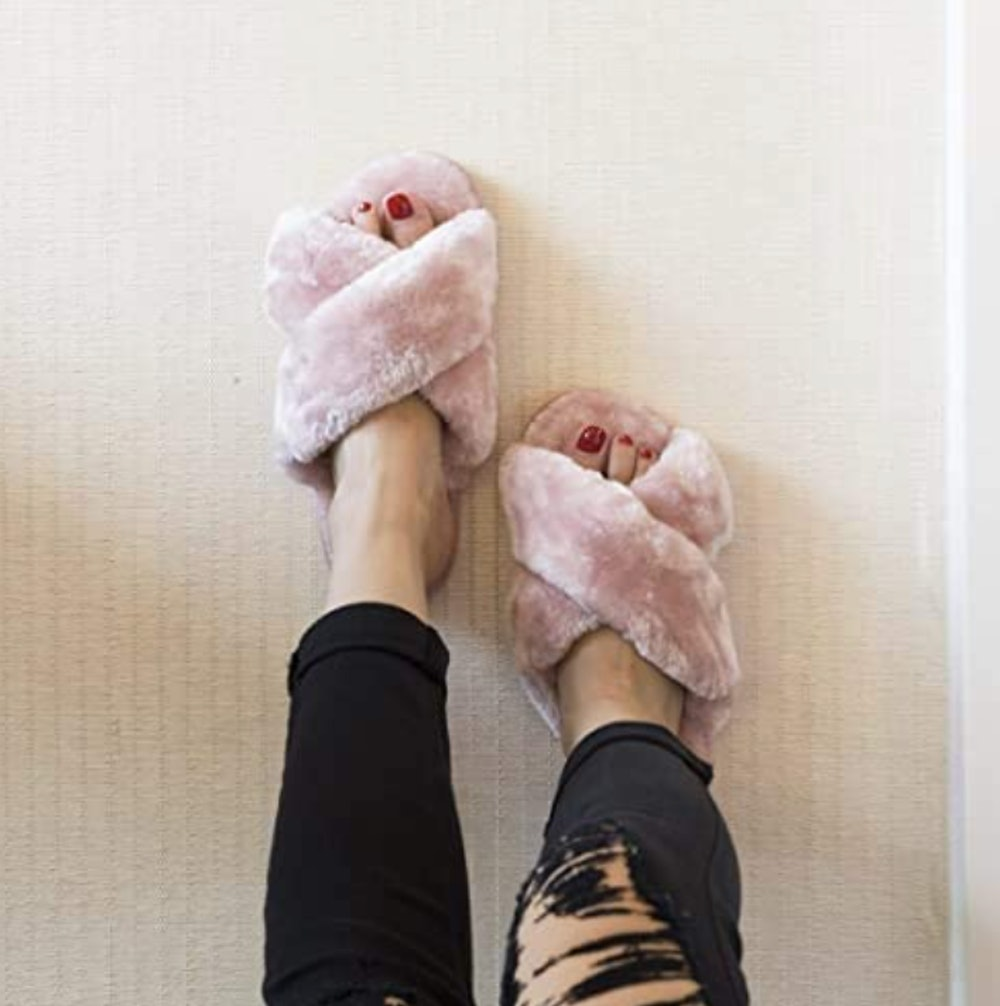 Fuzzy House Slippers