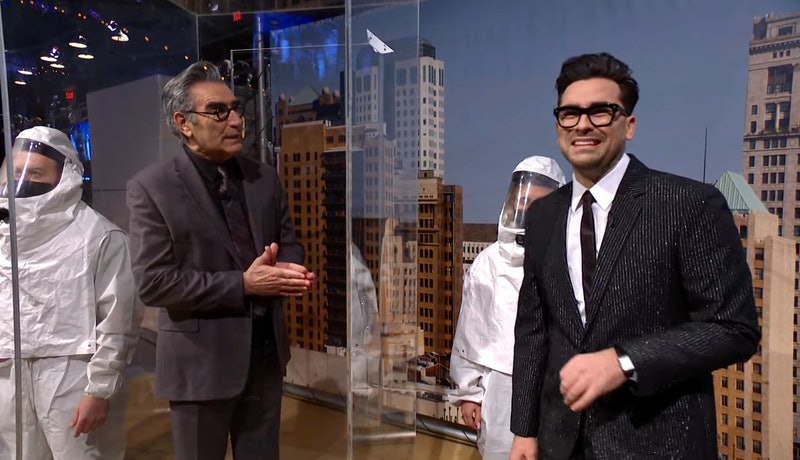Eugene Levy & Dan Levy in 'Saturday Night Live's Feb. 6 episode.
