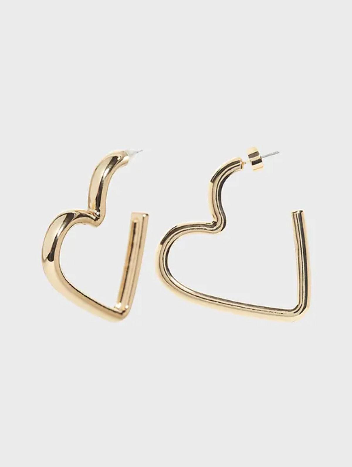 Banana Republic Heart Shape Hoop Earrings