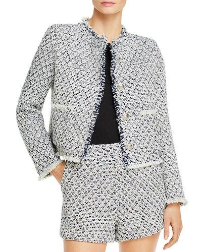 Aqua Tweed Cropped Jacket