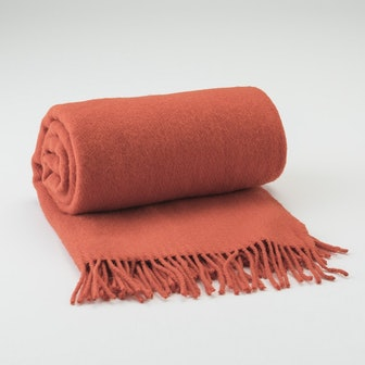Tangerine Fringed Throw