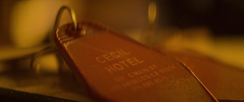 A Cecil Hotel key in 'Crime Scene,' via Netflix press site.