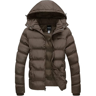 Wantdo Winter Puffer Jacket With Removable Hood