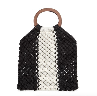 Riley Stripe Knit Bag