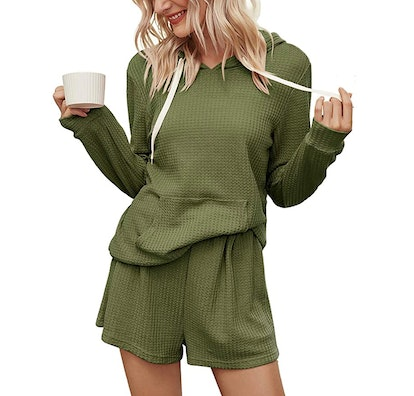 KIRUNDO 2021 Winter Two Piece Pajama Set