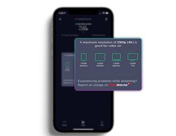 Ookla Speedtest video test screenshot.