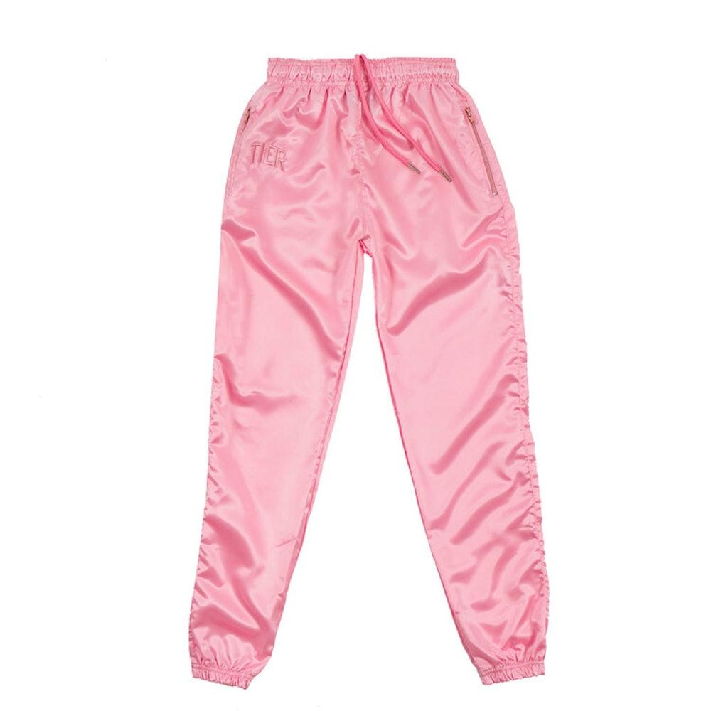 Pink Tiér Satin Pants